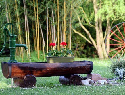 Fontaine jardin et à eau